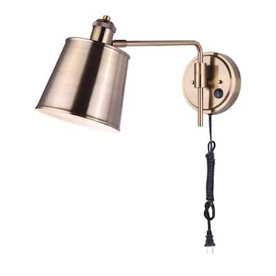 Ryana 1-Light Gold Swing Arm Light