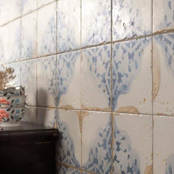 Merola Tile Artisan Azul Decor 13 In X 13 In Ceramic Floor And Wall Tile 12 2 Sq Ft Case Fpeartad The Home Depot
