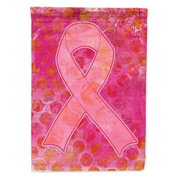Caroline S Treasures 28 In X 40 In Polyester Artsy Breast Cancer Pink Ribbon Flag Canvas House Size 2 Sided Heavyweight Sb3094chf The Home Depot