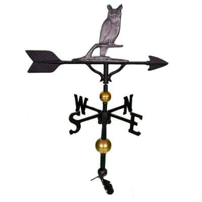 32 in. Deluxe Swedish Iron Owl Weathervane