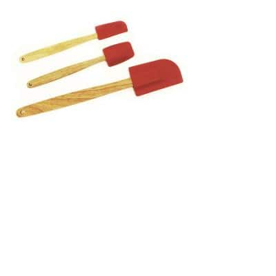 Silicone Red Spatula Set of 3