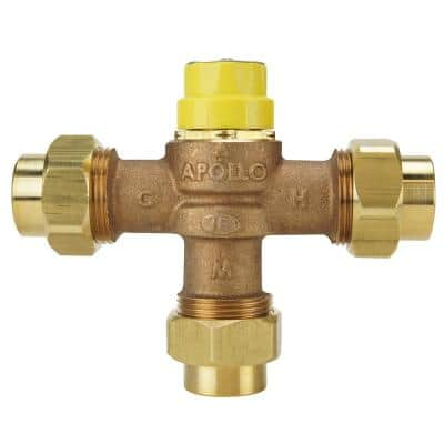 3/4 in. Lead Free Bronze Threaded Thermostatic Mixing Valve