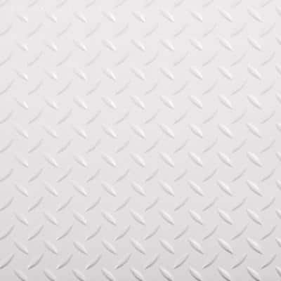 RaceDay Diamond Tread Absolute White 12 in. x 12 in. Peel and Stick Polyvinyl Tile (20 sq. ft. / case)