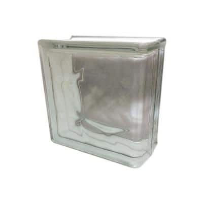 Nubio 4 in. Thick Series 8 x 8 x 4 in. (4-Pack) End Wave Pattern Glass Block (Actual 7.75 x 7.75 x 3.88 in.)