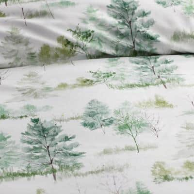 Company Cotton Lakeview Multi-Colored Bamboo Sateen Duvet Cover