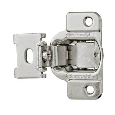 Satin Nickel 1/2 in. Overlay Concealed Cabinet Hinge (2-Pack)