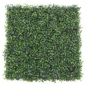 20 in. H x 20 in. W GorgeousHome Artificial Boxwood Hedge Greenery Panels, DarkGreen (12-pc)