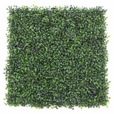 "GorgeousHome Artificial Boxwood Hedge Greenery Panels, 20""x20""/pc (DarkGreen_12pc)"