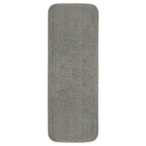 Softy Collection Dark Grey 9 in. x 26 in. Rubber Back Stair Tread Cover (Set of 14)