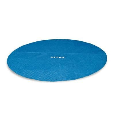 Easy Set 15 ft. x 15 ft. Round Blue Vinyl Above Ground Pool Solar Cover for Swimming Pools