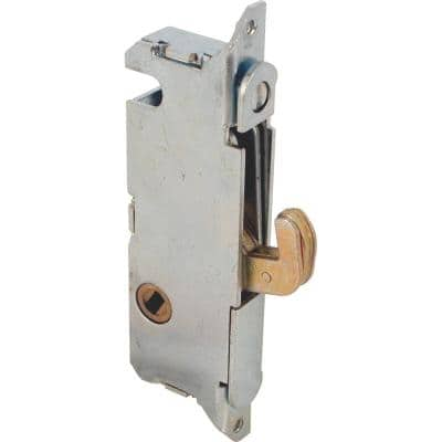 Mortise Lock, 3-11/16 in., Steel, 45 Degree Keyway, Round Faceplate, Spring-Loaded