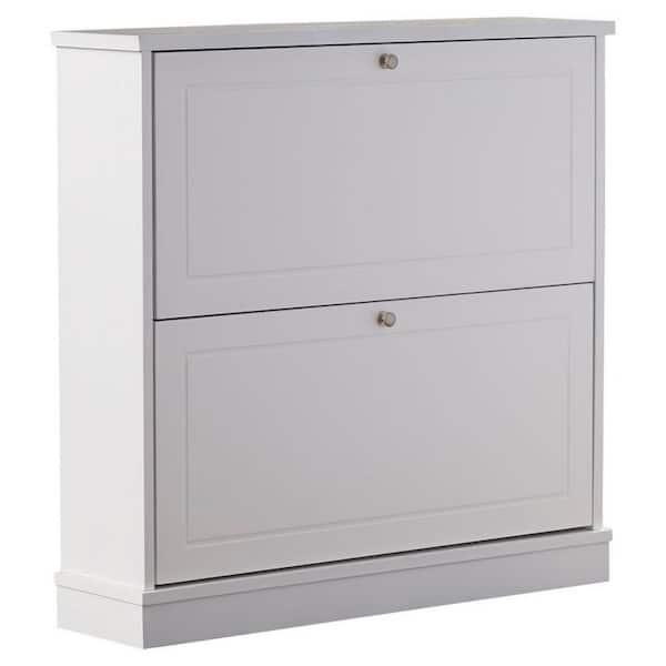 12 Pair Shoe Storage Cabinet With, Shoe Storage White Cabinet