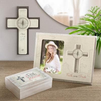 Black And White Ceramic And Wood Choose A Path Of Faith Cross