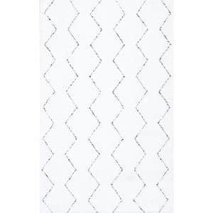 Sheilah Moroccan Modern White 9 ft. x 12 ft. Area Rug