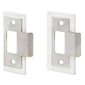 1-3/8 in. and 1-3/4 in. Satin Nickel Plated Fix-A-Latch Strike Plate Repair Kit