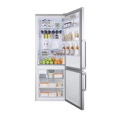 27 in. 16.4 cu. ft. Bottom Freezer Refrigerator in Stainless Steel, Counter Depth