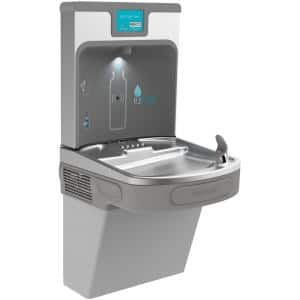 Filtered 8 GPH EZH2O ADA Light Gray Drinking Fountain with Bottle Filling Station