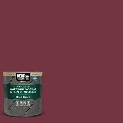 1 qt. #S130-7 Cherry Cola Solid Color Waterproofing Exterior Wood Stain and Sealer