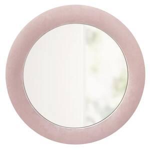 32 in. x 32 in. Round Velvet Framed Upholstery Accent Mirror