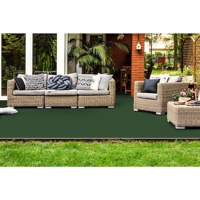 Vantage 12 ft. x 100 ft. Ivy Green Artificial Grass Carpet