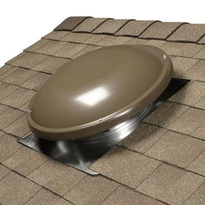 1500 CFM Weathered Wood Power Roof Mount Attic Fan with Humidistat/Thermostat