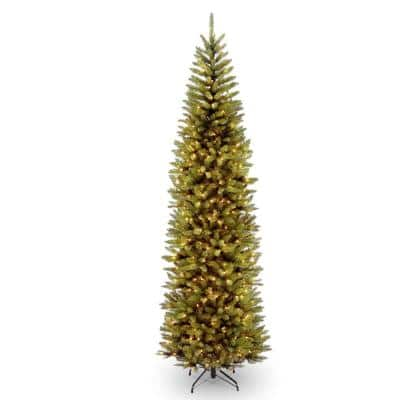 10 ft. Kingswood Fir Pencil Artificial Christmas Tree with Clear Lights