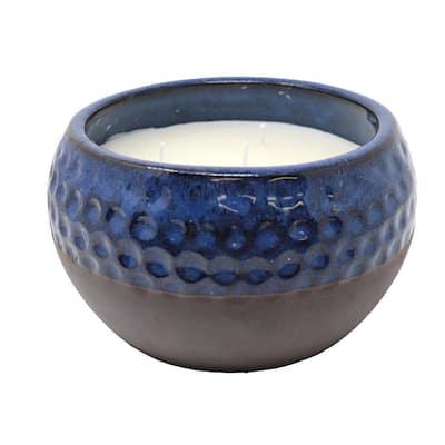 50 oz. Five Wick Citronella Candle in Ceramic Pot - Blue