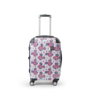 Disney Minnie Mouse Floral 29 in. White Printed Hard-Sided Rolling Luggage