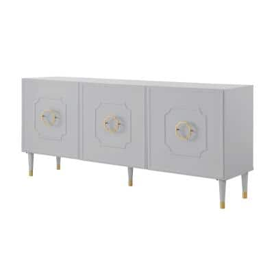Keao Light Grey Sideboard 3-Doors