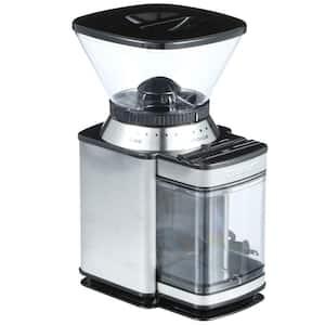 Supreme Grind 8 oz. Stainless Steel Burr Coffee Grinder with Adjustable Settings