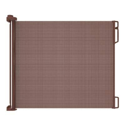 33 in. H x 71 in. W Brown Extra Wide Outdoor Retractable Gate