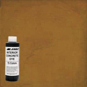 1 gal. Warm Honey Interior Concrete Dye Stain Makes with Water from 8 oz. Concentrate