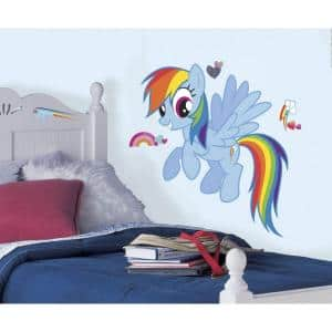 25.8 in. x 30.4 in. Rainbow Dash Peel and Stick Giant Wall Decal