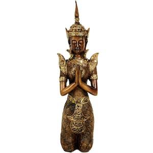 Oriental Furniture 16 in. Thepenom Thai Angel Decorative Statue