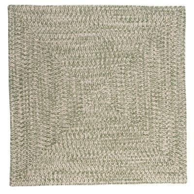Marilyn Tweed Moss 12 ft. x 12 ft. Square Braided Rug