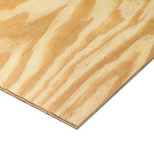 11/32 in. or 3/8 in. x 4 ft. x 8 ft. BC Sanded Pine Plywood