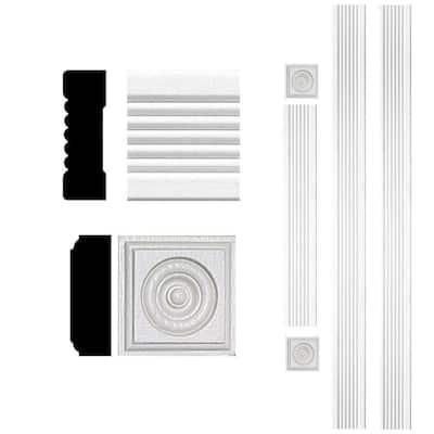 3/4 in. x 2-1/4 in. x 8 ft. MDF Fluted Door Casing Moulding Set