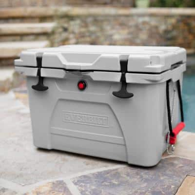 36 Qt. High-Performance Cooler in Gray with Lockable Lid - Holds 40 lbs. of Ice