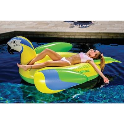 Yellow Parrot head Pool Float