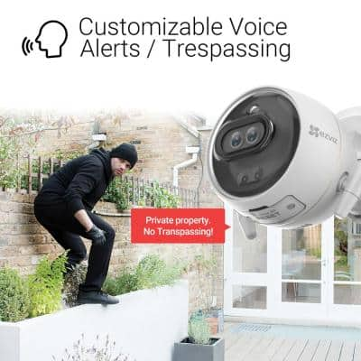 Wired Outdoor Wi-Fi Dual-Lens Security Camera With Color Night Vision