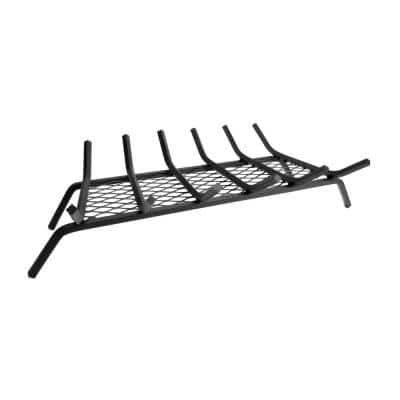 1/2 in. 30 in. 6-Bar Steel Fireplace Grate with Ember Retainer