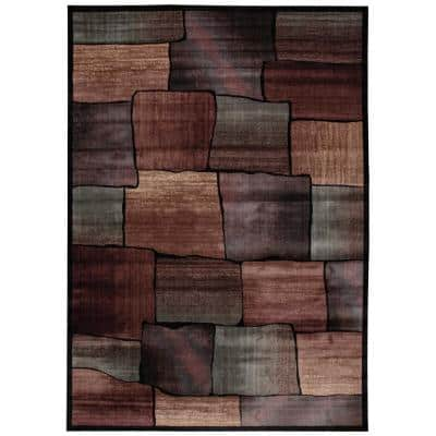 Expressions Multicolor 9 ft. x 13 ft. Geometric Contemporary Area Rug