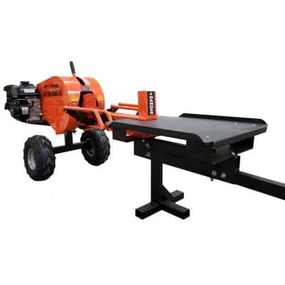 40-Ton 7 HP 208cc Certified Commercial Horizontal Kinetic Log Splitter with Kohler Engine & 1-Sec Cycle Time