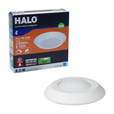 BLD 4 in. White Integrated LED Recessed Ceiling Mount Light Trim 3000K Soft White