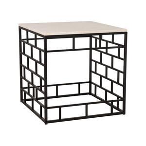Mason 24 in. H Black Square Granite Coffee Table
