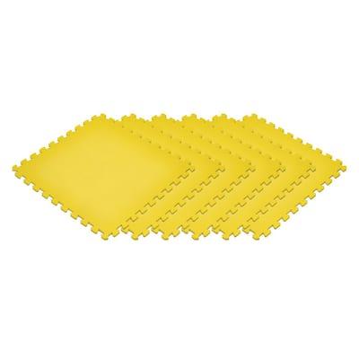 Yellow 24 in. x 24 in. EVA Foam Non-Toxic Solid Color Interlocking Tiles (144 sq. ft. - 36 tiles)