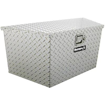 18.5 in. x 15 in. x 49 in. Diamond Plate Tread Aluminum Trailer Tongue Truck Tool Box