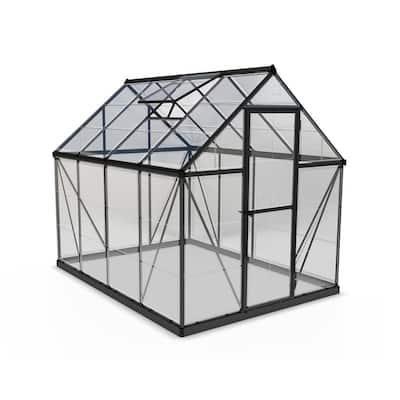 Harmony 6 ft. x 8 ft. Polycarbonate Gray Greenhouse