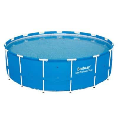 15 ft. x 48 in. D Round Hard Side Side Steel Pro Frame Above Ground Swimming Pool