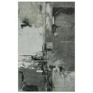 Fusion Grey 4 ft. x 6 ft. Abstract Area Rug